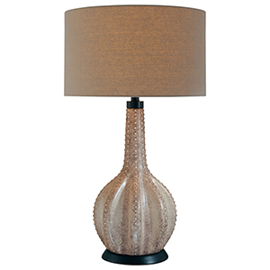 Gray One-Light Table Lamp