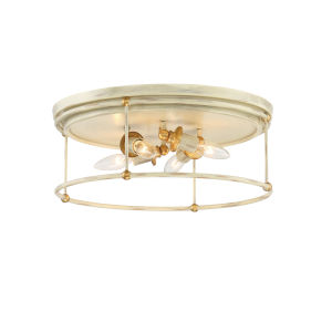 Westchester County Farm House White Four-Light Flush Mount