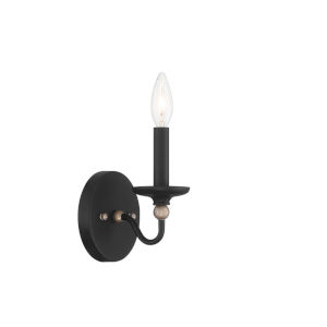 Westchester County Sand Coal And Skyline Gold Leaf One-Light Wall Sconce