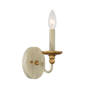 Westchester County Farm House White One-Light Wall Sconce