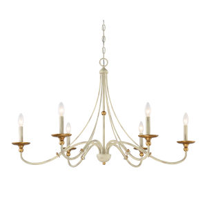 Westchester County Farm House White Six-Light Chandelier
