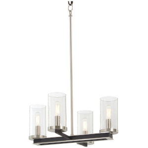 Coles Crossing Coal And Brushed Nickel Four-Light Chandelier