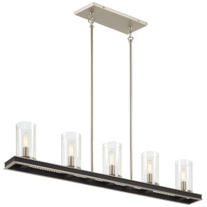 Coles Crossing Coal And Brushed Nickel Five-Light Island Chandelier
