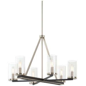 Coles Crossing Coal And Brushed Nickel Six-Light Chandelier