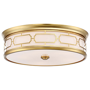 1826-249 Liberty Gold Five-Light Flush Mount