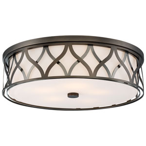 Harvard Court Bronze 20-Inch LED Flush Mount