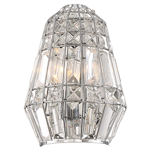 Braiden Chrome Two-Light Wall Sconce