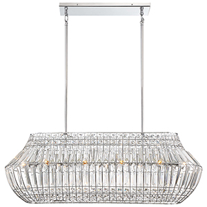 Braiden Chrome 10-Light Island Pendant