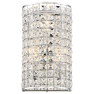 Palermo Chrome Three-Light Wall Sconce