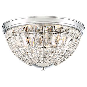 Palermo Chrome Three-Light Flush Mount