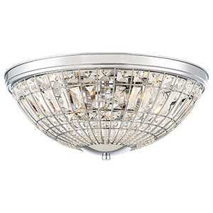 Palermo Chrome Five-Light Flush Mount