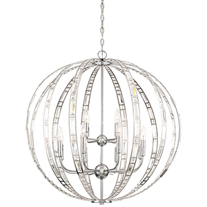 Palermo Chrome 12-Light Pendant