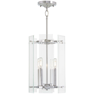 Beacon Trace Chrome Four-Light Pendant