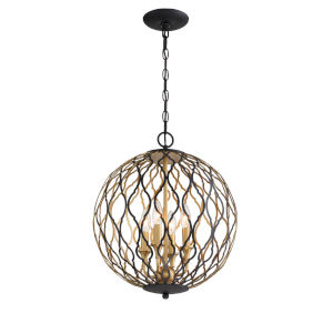 Gilded Glam Sand Coal Four-Light Pendant