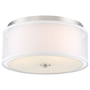 Studio 5 Polished Nickel Three-Light Flush Mount