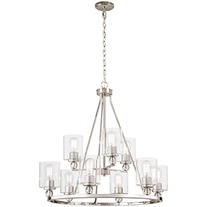 Studio 5 Polished Nickel Nine-Light Chandelier