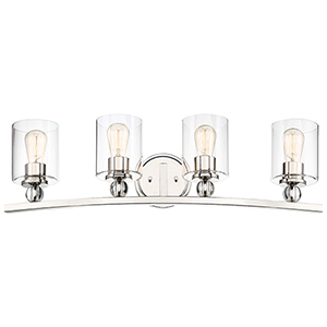 Studio 5 Polished Nickel Four-Light Bath Vanity
