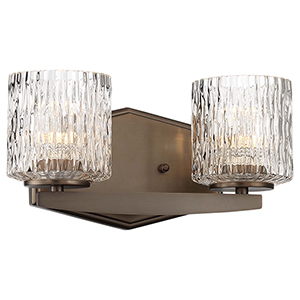 Maginot LED Harvard Court Bronze Two-Light LED Bath Vanity