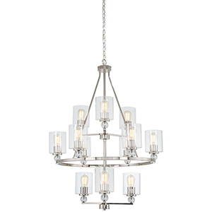 Studio 5 Polished Nickel 12-Light Chandelier