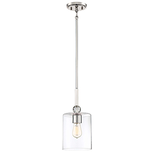 Studio 5 Polished Nickel One-Light Mini Pendant