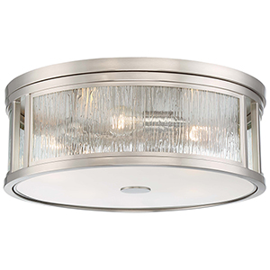 Via Capri Brushed Nickel Five-Light Flush Mount