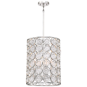 Culture Chic Catalina Silver Four-Light Pendant