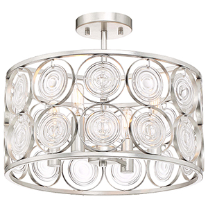 Culture Chic Catalina Silver Four-Light Semi Flush Mount