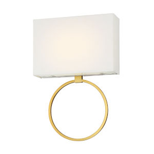 Chassell Painted Honey Gold With Polish 13-Inch ADA LED Wall Sconce