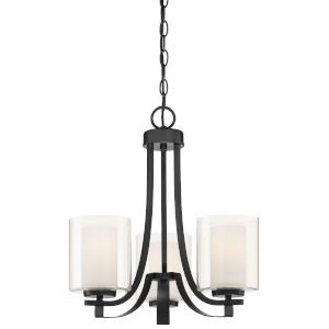 Parsons Studio Sand Coal Three-Light Chandelier