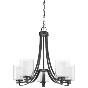 Parsons Studio Sand Coal Five-Light Chandelier
