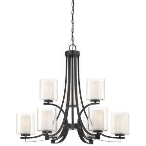 Parsons Studio Sand Coal Nine-Light Chandelier