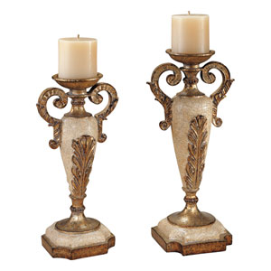 Golden Stone Candle Holder