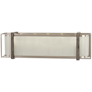 Tysons Gate Brushed Nickel with Shale Wood Five-Light Bath Vanity