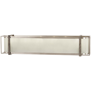 Tysons Gate Brushed Nickel with Shale Wood Six-Light Bath Vanity