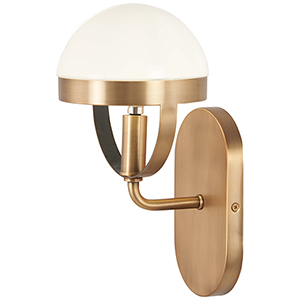 Tannehill Antique Noble Brass One-Light Bath Sconce