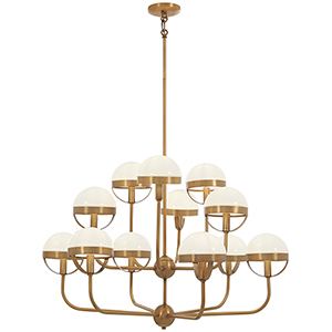 Tannehill Antique Noble Brass 12-Light Chandelier