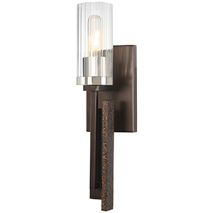 Maddox Roe Iron Ore with Gold Dust Highlight 18-Inch One-Light Wall Sconce