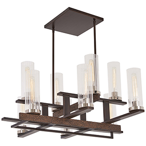 Maddox Roe Iron Ore with Gold Dust Highlight 10-Light Chandelier