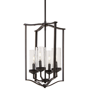 Elyton Downton Bronze with Gold Highlight Four-Light Pendant