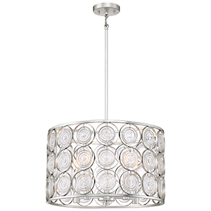 Culture Chic Catalina Silver Five-Light Pendant
