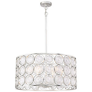 Culture Chic Catalina Silver Six-Light Pendant