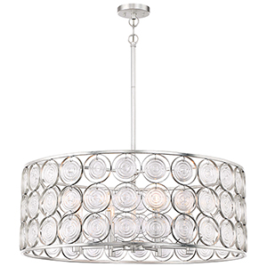 Culture Chic Catalina Silver Eight-Light Pendant