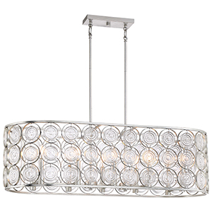 Culture Chic Catalina Silver 10-Light Island Pendant
