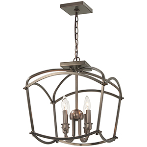 Jupiters Canopy Harvard Court Bronze Four-Light Semi Flush Mount