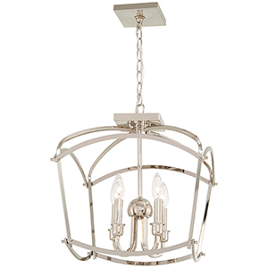 Jupiters Canopy Polished Nickel Four-Light Semi Flush Mount