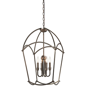 Jupiters Canopy Harvard Court Bronze Four-Light Pendant
