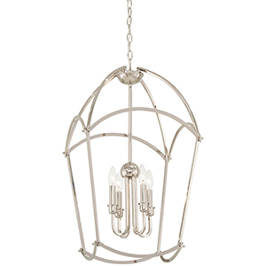 Jupiters Canopy Polished Nickel Four-Light Pendant