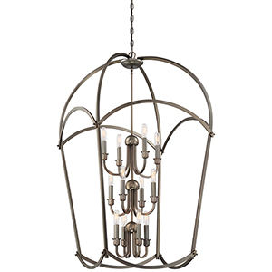 Jupiters Canopy Harvard Court Bronze 12-Light Chandelier