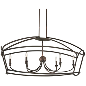 Jupiters Canopy Harvard Court Bronze Six-Light Pendant