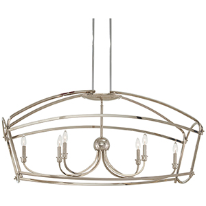 Jupiters Canopy Polished Nickel Six-Light Pendant